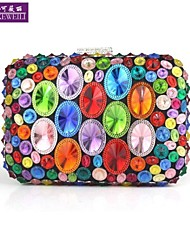 AIKEWEILI®Women's Purse Fashion Luxury Colorful Diamond Bride Bag Europe Style All-Match Evening Bag