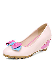 Women's Shoes Wedge Heel Comfort/Round Toe Loafers Outdoor/Dress/Casual Pink/White
