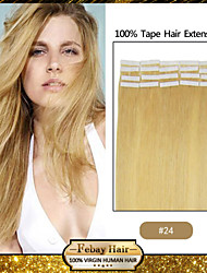 30-50g/pack 16-24inch Brazilian Virgin Tape Human Hair Extension #24 Tape In Human Hair Extensions 002