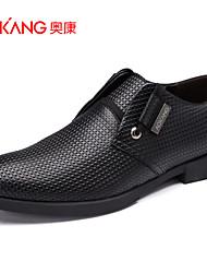 Sapatos Masculinos Oxfords Preto Couro Casamento / Ar-Livre / Escritório & Trabalho / Casual / Festas & Noite