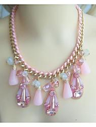 High Quality Teardrop Statement Necklace, Austrian Crystal Bubble bib Necklace