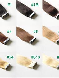 2.5g / pc 20pcs / pack 50g / lot brasilianische Menschenhaarband Haarverlängerungen glattes Haar # 1b, # 2, # 27, # 33, # 613,