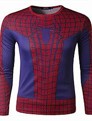 Men's T-Shirts , Polyester Casual Summer/Spring/Fall LIU.JO