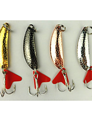 Hengjia 8pcs Spoon Metal Fishing Lures  Spinner Baits 5.7g