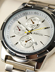 Men's Wrist watch Quartz Alloy Band Silver