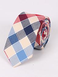 Cravates (Bleu/Rose/Rouge , Coton) Grille