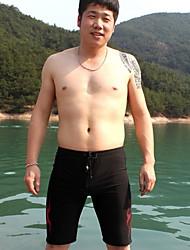 Flame 3D Printing Men's Large size Boxer Swim Trunks