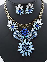 Vintage / Party-Damen-Halskette / Ohrring(Rose Gold überzogen / Legierung / Strass / Edelstein & Kristall)