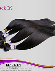 "3Pcs/Lot 8""-28"" Unprocessed Brazilian Virgin Hair Jet Black Straight Human Hair Weave  Tangle Free Hair Extensions"