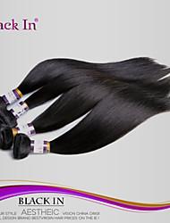 "3pcs / lot 8 ""-28"" extensiones de cabello gratis sin procesar brasileño chorro pelo virginal negro recta enredo armadura del pelo humano"