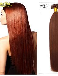 """18 """"- 28"""" pré extensões de cabelo indiano ligados cabelo humano Mechas 8a grau extensões de cabelo unhas em linha reta emaranhado grátis"""