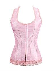 Formwäsche ( rosa , Damast/Polyester , Volants ) - für Hochzeit - Shapewear Tops