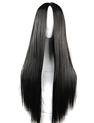 Girl Fashion Must-Have Natural High Quality Black Long Straight Hair Wig