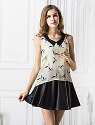 Women's Casual Print Sleeveless Vest