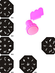 Art Image Plate Stamp Stamping Nail Stamper Scraper Set DIY Beauty Polish Stencil Nail Template