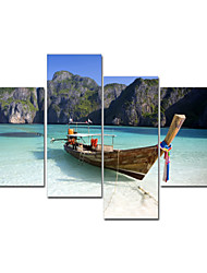 VISUAL STAR®Boat On Sea Stretched Canvas Art Group Canvas Painting Ready to Hang