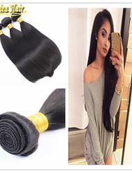 3PCS/lot 100% Brazilian Hair Bundles Virgin Hair Human Hair Extension Weft Natural Color Straight Hair Free Shipping