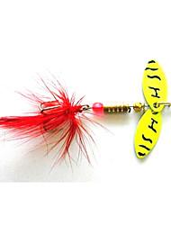 Hengjia 5pcs Spoon Metal Fishing Lures  Spinner Baits 4.5g #8 Hook