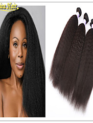 3 Pcs/Lot brazilian hair extension grade 8a hair product unprocessed natural black color kinky Straight hair weft