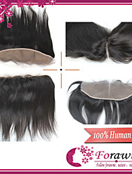 "Free Tangle Remy Brazilian Virgin Human Hair Lace Frontal 1B 120% 13*2Inch Straight Swiss Lace Frontal Hair 8""-24"""