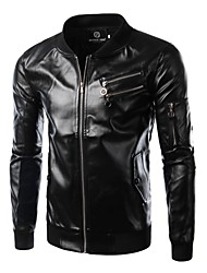 Men's fashion casual leather men's leather jacket