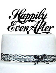 Happily Ever After Wedding Cake Topper (More Colors)
