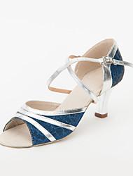 Chaussures de danse(Noir Blanc Argent Or) -Non Personnalisables-Talon Aiguille-Similicuir Paillette-Latine Salsa