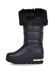 Women's Shoes Flat Heel Snow Boots/Fashion Boots Boots Outdoor/Office & Career/Casual Black/White