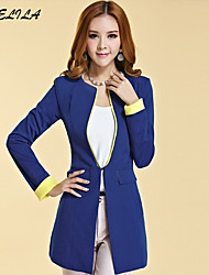 Women's Long Sleeve Cotton Blazer