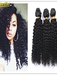 3 Pcs/Lot Black woman Human hair Extensions virgin brazilian afro curl Hair Weft Unprocessed Hair 3pcs lot