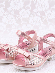 Girls' Shoes Casual Peep Toe  Sandals Pink/Silver
