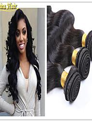 Extension de cheveux 3pcs / lot 8a brésiliens vierges trame de cheveux de vague de corps de cheveux armure vierge en stock