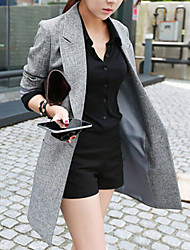 Women's Long Sleeve Blazer , Others Long Casual