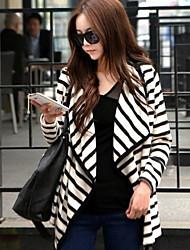 Women's Pan Collar Coats & Jackets , Cotton Blend Casual Long Sleeve Retro