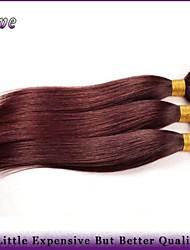 "3Pcs/Lot 10""-26""Malaysian Virgin Hair Straight Burgundy Pure Color Cheap Human Hair Bundles 99J Mocha Hair Products"