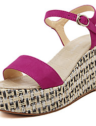 Women's Shoes Wedge Heel Wedges/Platform Sandals Casual Black/Red