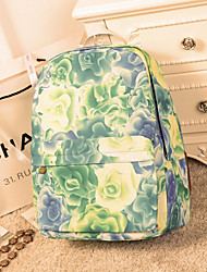 Women Canvas Casual / Outdoor Backpack / Laptop Bag / School Bag Green