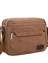 Men 's Canvas Baguette Shoulder Bag - Blue/Brown/Black