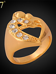 U7® Women's Fashion Ring Jewelry Gift 18K Gold Plated High Quality Rhinestone Gold Ring