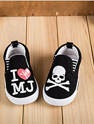 Children's Shoes Casual Canvas Fashion Sneakers Black/White