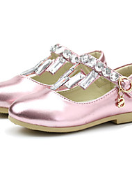 Non Customizable Kids' Dance Shoes Latin/Dance Sneakers/Modern/Salsa/Gymnastics Synthetic Chunky Heel Pink/Silver/Gold