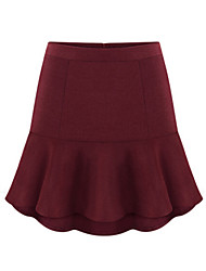 Women's Fashion All Match High Waist Trumpet Mini Skirts