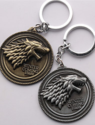 Unisex Fashion Jewelry Animation Cosplay Game of Thrones Pendant Cosplay Alloy Key Buckle Key Rings Key Chain