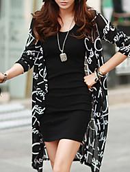 ocasional sexy impressão blusa bonito das mulheres (roupa)