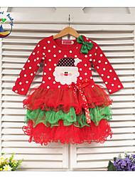 Vestido Chica de - Primavera/Otoño - Mezcla de Algodón - Manga Larga
