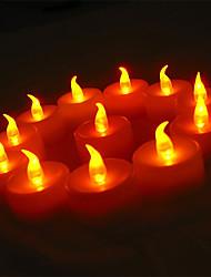 24pcs желтый светодиод чай огни на Пасху Рождество свадьбы