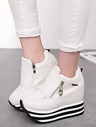 Scarpe Donna - Sneakers alla moda - Tempo libero / Casual - Comoda - Zeppa - Di corda - Nero / Rosso / Bianco