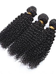 """3pcs / lot 8 """"-34"""" peruanisches lockiges Haar # 1b verworrenes lockiges reines Haar unverarbeitete peruanisches Menschenhaar verworrene"""