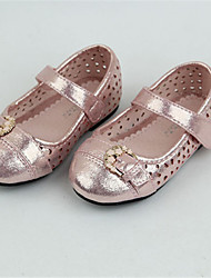 Baby Shoes Casual Leather Flats Pink/Gold