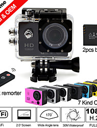 "Besteye® 2.0"" WiFi HD 1080P Action Camera with 170°Wide Angle 30M Waterproof IR Remote Sport DV 2 Battery"
